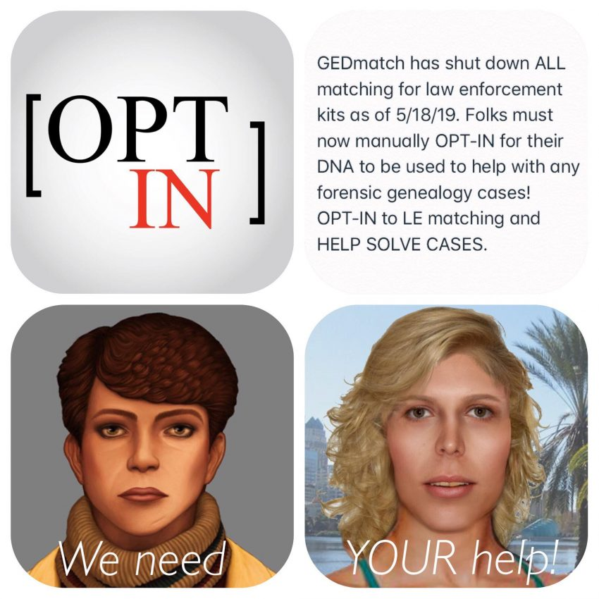 CALL TO ACTION: OPT-IN On GEDmatch! - Trans Doe Task Force